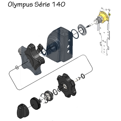 Base (Hub) do Botão de Freio para Endoscópios Olympus da Série 140 - COMPATÍVEL/PARALELO