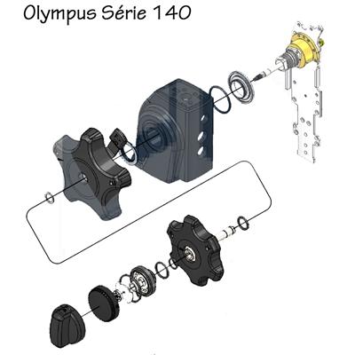 Manopla LR (Left/Right) Completa para Aparelhos Olympus da Série 140 - ORIGINAL