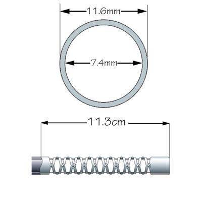 Seção da Ponta Flexível para Olympus CF-Q150L/Q160L/Q160AL/Q165L/Q145L